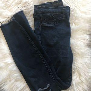 Rock & Republic Distressed Highroller Skinny Jeans